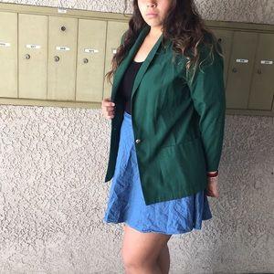 Green linen blazer